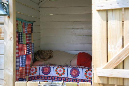 Slapen in het huisje