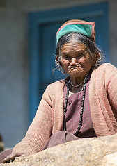 Old Sangla lady, HP (sanjayausta) Tags: old people woman india mountains face rural shimla village district rustic expressions rocky tribal hills valley area wrinkles facial