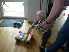 Testar en läragåvagn