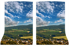 Vogtland in late summer 3D ::: Stereoscopic Cross Eye ::: (Stereotron) Tags: eye window germany landscape evening stereoscopic stereophoto stereophotography 3d crosseye crosseyed europe cross saxony stereo frame squint stereoview spatial sidebyside 3dglasses indiansummer airtight steinberg sbs stereoscopy squinting latesummer auerbach sprungschanze threedimensional stereo3d freeview stereophotograph vogtland crossview 3rddimension 3dimage xview kreuzblick 3dphoto rodewisch hyperstereo fancyframe stereophotomaker stereowindow 3dstereo 3dpicture kuhberg 3dframe wernesgrn floatingwindow stereotron spatialframe airtightframe