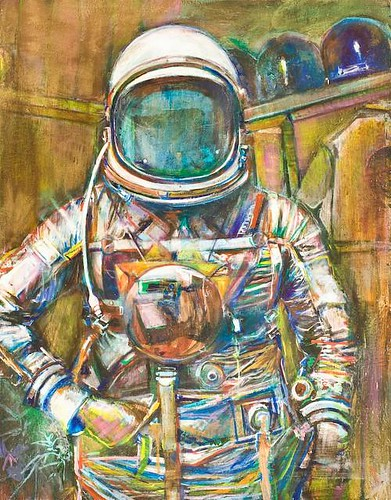 """portrait of the artist as an astronaut 3.0"" by Ed Saavedra"