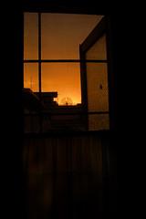 Sunrise at my bathroom window (Mobeen_Ansari (in Seattle, LA, TX and DC July-Augu) Tags: pakistan window sunrise nikon d70 nikond70 islamabad
