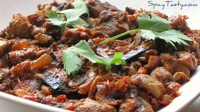 mushroom dry curry