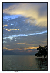nature's orchestra (zuki12) Tags: blue sunset yellow hour westjava jatiluhur flickrsbest