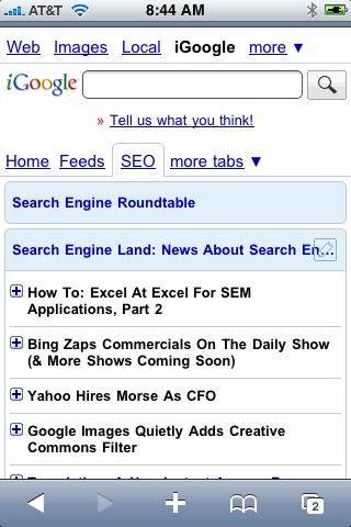 New Mobile iGoogle