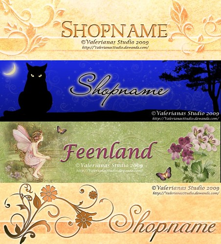 Banner for Shop or Blog