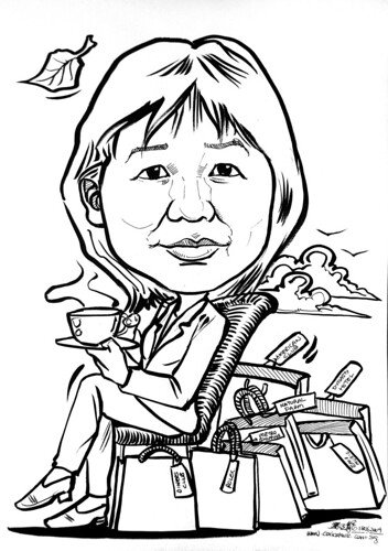 Caricature for Ernst & Young retiree