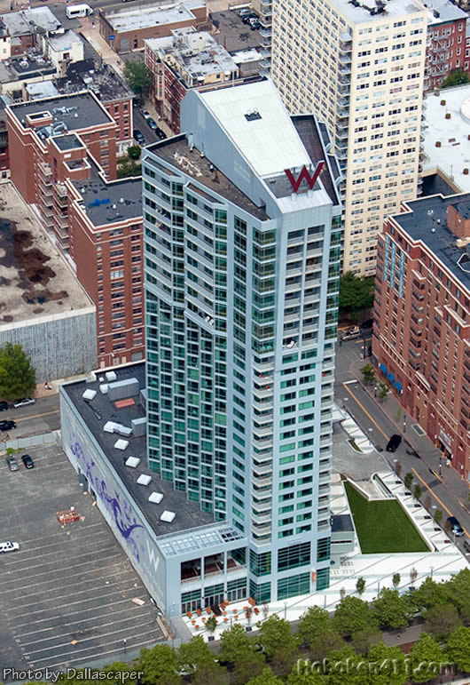 Hoboken W Hotel from a Helicopter