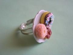 DSCN6943 (Vivien, DoS, BOC, CoAT) Tags: food cute dessert miniature jewelry ring polymerclay donut doughnut sweets