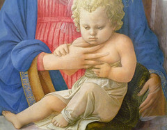Fra Fillipo Lippi Madonna and Child with detail of Christ