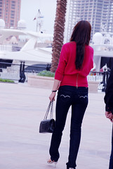 (Unique'Queen) Tags: pink black top pearl chanel handbag qatar the
