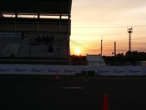 レース終了間近