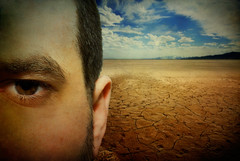 y2.d124 | wasteland. (B Rosen) Tags: two portrait sky cloud selfportrait eye texture me face self nikon flickr close desert year yeartwo 365 wasteland d60 365days nikond60 365project skeletalmesstexture 3652010