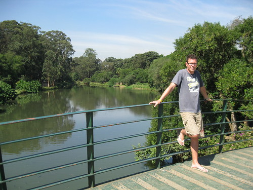 The lake in the middle of Parque do Ibirapuera