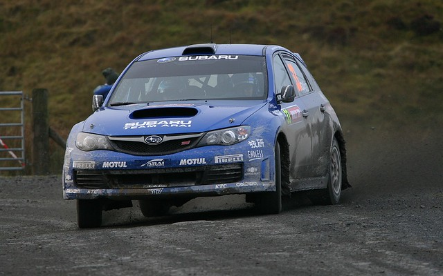 Toshi Arai - Team Arai Subaru Impreza - WRC Wales Rally GB 2009 - Myherin