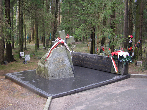 Levashovo Memorial. Monument to Polish Victims.