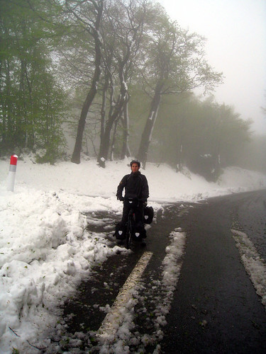 Cycling in Snow Col de Saletes