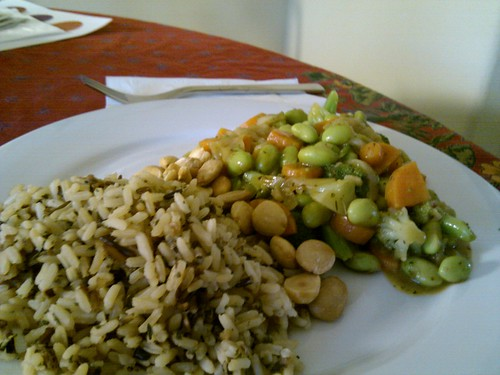 Veggie Saute and Wild Rice