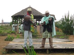 Two old guys singing an old folk song. (Linda DV) Tags: africa music canon geotagged video folklore instrument madagascar 2009 ranomafana powershots5is ambohimahasoa lindadevolder lunchdance