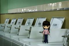 Olive visits the laundromat ...