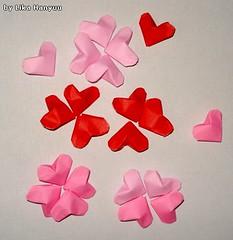 Corações Flores
