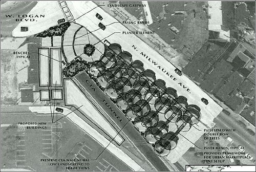 design for market plaza proposal (via Logan Square Open Space Plan)