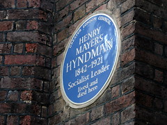 Photo of Henry Mayers Hyndman blue plaque