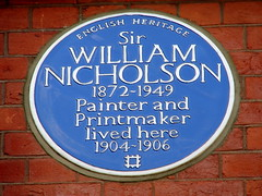 Photo of William Nicholson blue plaque
