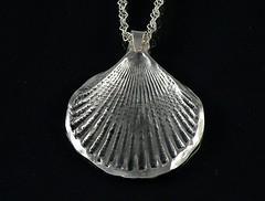 """Seashell"" Silver Necklace (EfratJewelry) Tags: silver handmade jewelry jewellery sterling 925 oxidized silversmith metalsmith sterlingsilver כסף סטרלינג תכשיטים שרשרת תליון תליונים שרשראות צורפות עיצובתכשיטים efratjewelry"