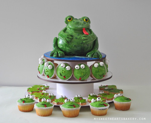Frog Birthday Cake Cupcake Cookie
