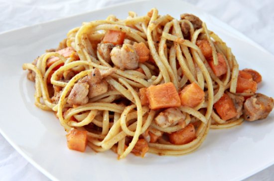 Sweet Potato Linguine with Brown Butter Balsamic Sauce 550