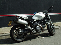 2009 Ducati Monster (kenjonbro) Tags: uk white monster kent pearl ducati 2009 696 696cc