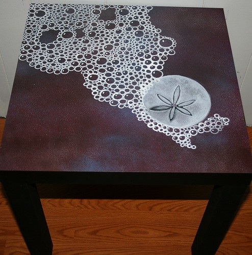 Sand Dollar Pattern Table by Rick Cheadle Art and Designs