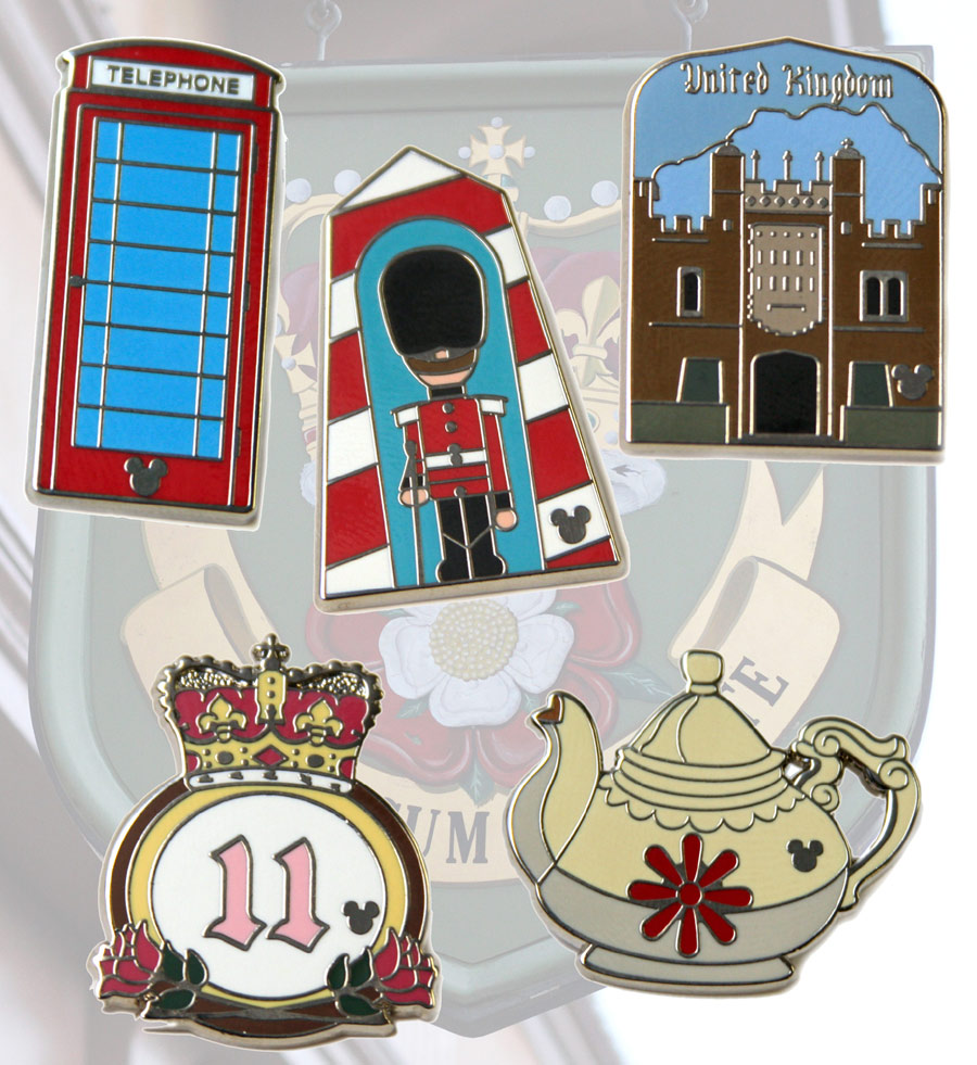 Hidden Mickey United Kingdom Pins Coming to Disney Parks