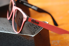 red classic sunglasses shades matte 50mmf18 kls nikond80 9five