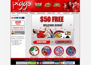 Piggs Casino Home