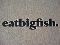 Eat Big Fish Letterpress Business Cards