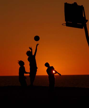 PHILIPPINES - SUNSET BASKETBALL
