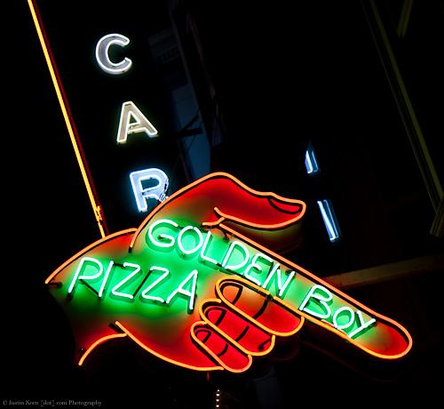 Golden Boy Pizza by Justin Korn