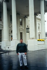 Steve in front of the White House North Portico. (11/03/1998)