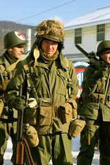 World War 2 Reenactment (kawkawpa) Tags: portrait pennsylvania gis wwii helmet battle ww2 soldiers uniforms 2009 reenactment kawkawpa worldwar2 battleofthebulge soldats fortindiantowngap img1567