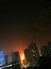 cctv north building on fire (fansile) Tags: china fire tvstation beijing cctv