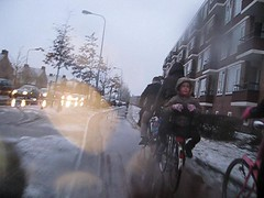 Another timelapse (eworm) Tags: snow cycling timelapse vimeo sneeuw nederland thenetherlands groningen fietsen paterswoldseweg