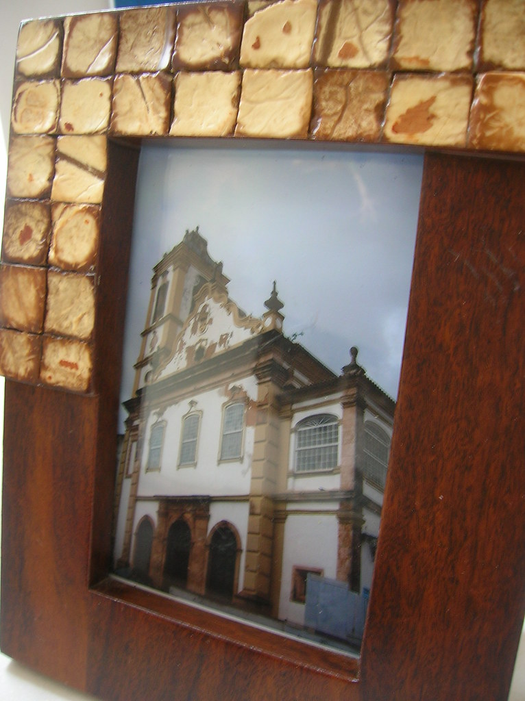 Porta Retrato Casca de Côco