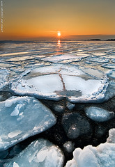 What lies beyond the beautiful surface... (Rob Orthen) Tags: winter sunset sea sky ice