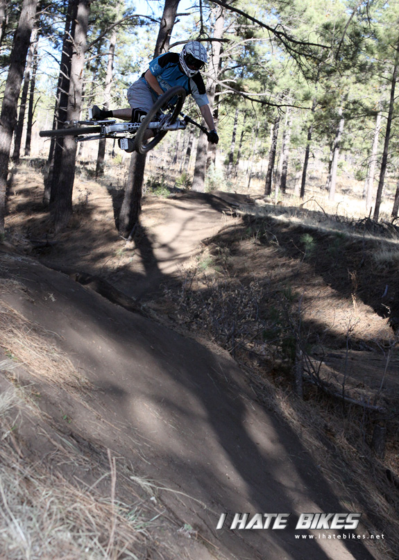 Feeling very much at home on the Session 88 FR on a fun jumpline in Ruidoso, New Mexico