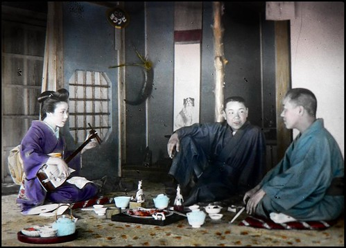 TWO GUYS, A DOG, AND A GEISHA in OLD JAPAN