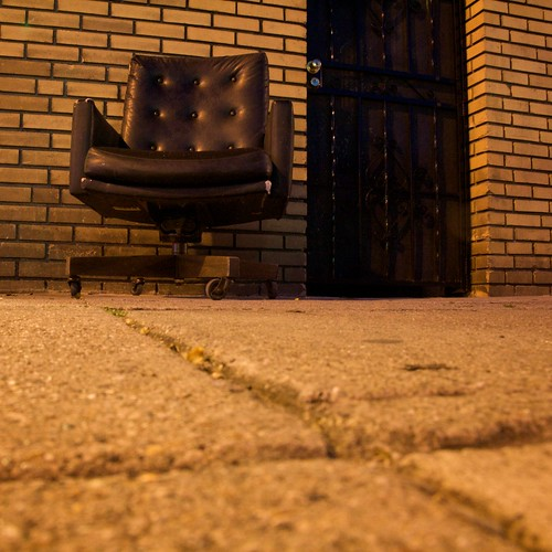 A Chair On A Sidewalk
