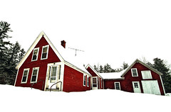 This Old House (ski 9) Tags: winter distortion snow abandoned farmhouse contrast rural neglected perspective newen