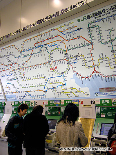 Mind-boggling train stations map